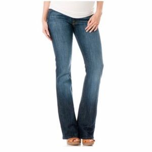 7FAM x Pea in the Pod flare maternity jeans